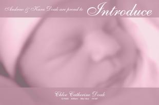 Chloe Birth Announcement