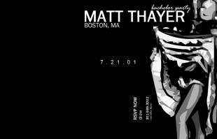 Matt Bachelor Party Invite
