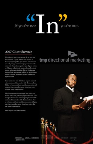 TMP Directional Marketing Poster Concept